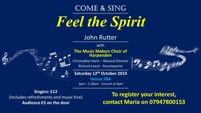 2019-10 come and sing poster